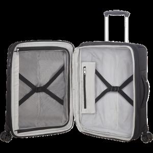 DUOPACK 55/20 Expanderbar resväska med 4 hjul Black